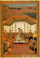 Fine art  - Meeting of Prince Murad and Khusrau Sultan by Artist